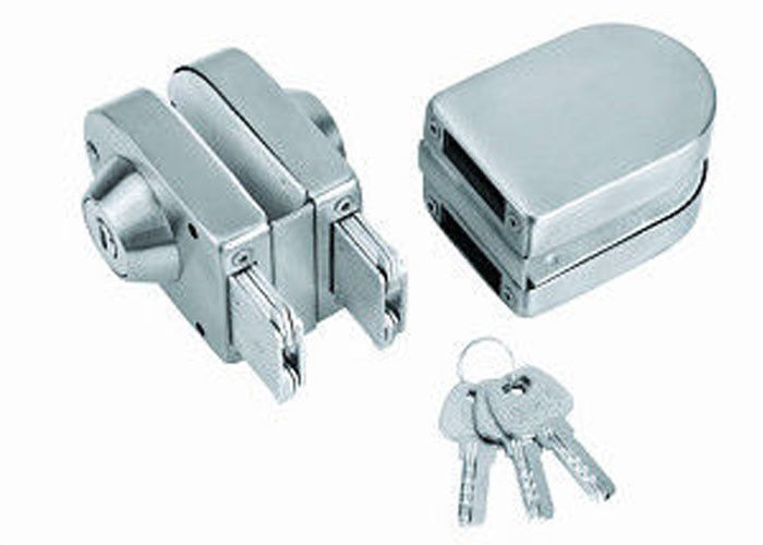 Double Open Glass Door Lock With Keys Glass Door Fittings In Modern Style